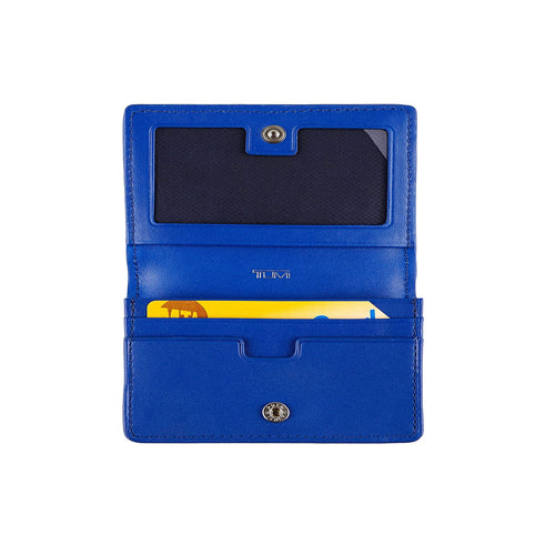 Tumi Montague SLG Tri Fold Card Case Wallet Blue