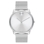 Movado BOLD 42 mm Stainless Steel Case with Silver-Toned Dial Mens Watch 3600589