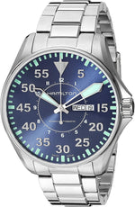 Hamilton Khaki Aviation Blue Dial Stainless Steel Men's Watch H64715145