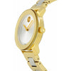 Movado Bold Iconic Two Tone Silver Dial with Yellow Gold Hands Ladies Watch 3600129