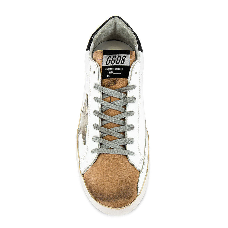 Golden Goose Deluxe Brand Superstar White/Brown Leather Mens Sneaker G36MS590.T86