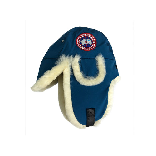 Canada Goose Ladies Shearling Hat- Inlet Blue 5188L size S/M
