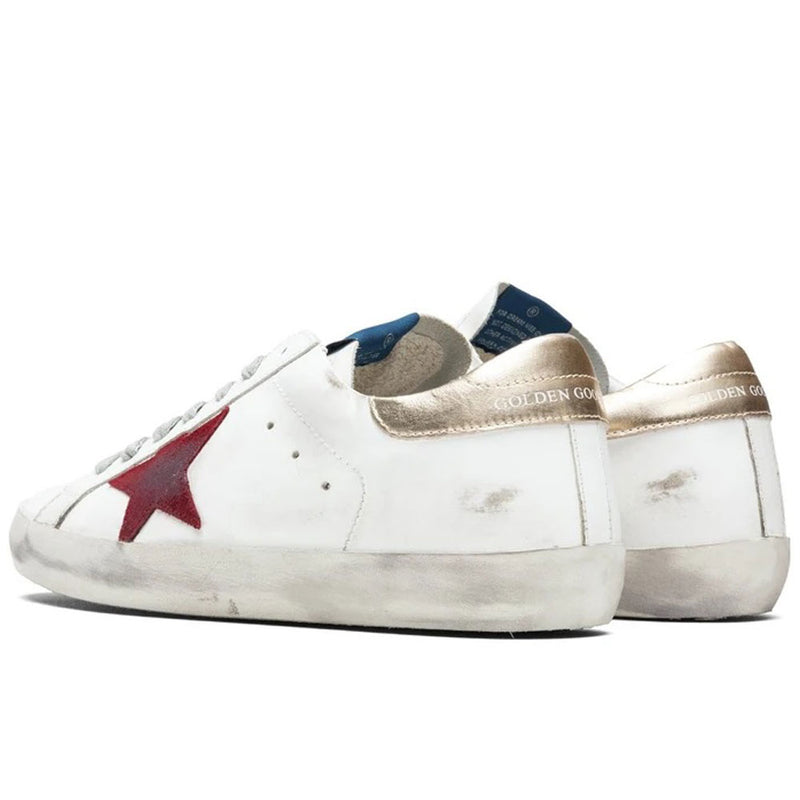 Golden Goose Superstar Leather Upper Suede Star Laminated Heel Mens Sneaker