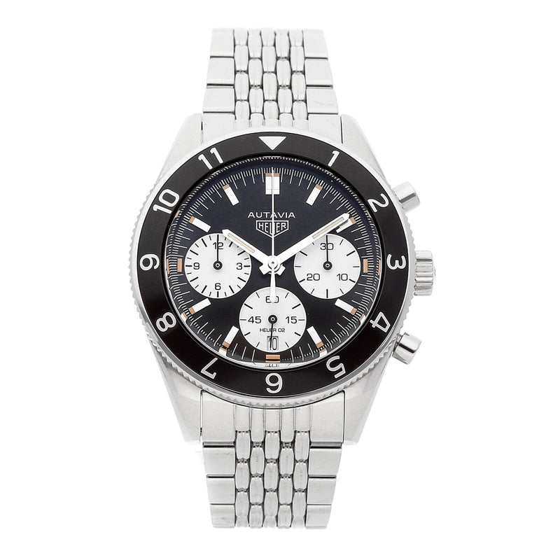 TAG Heuer Autavia Heuer Calibre 02 Black Dial Chronograph Men's Watch CBE2110.BA0687