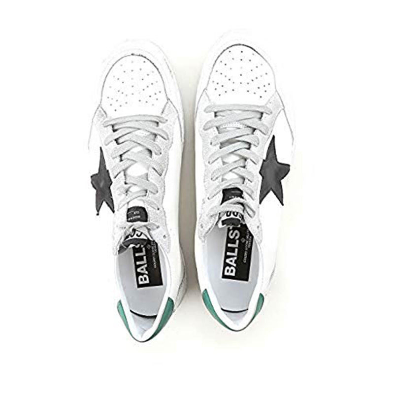 Golden Goose Ballstar Calf Leather White and Green Rubber Dirty White Men's Sneakers G32MS592.G4