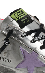 Golden Goose Superstar Patent Upper Leather Star Suede Heel Womens Sneaker
