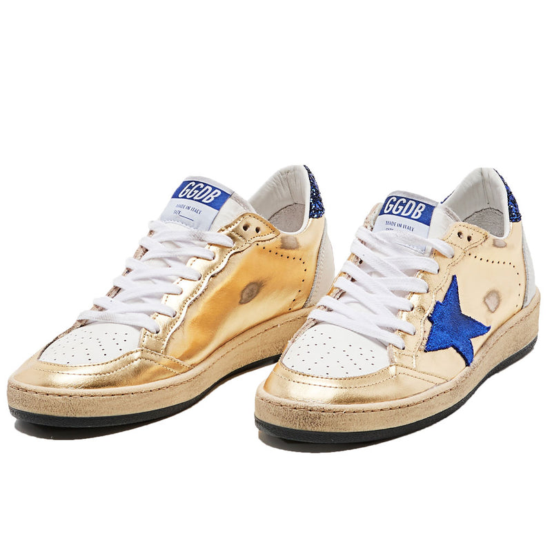 Golden Goose Ballstar Laminated Upper Suede Star Nabuk Heel Womens Sneakers