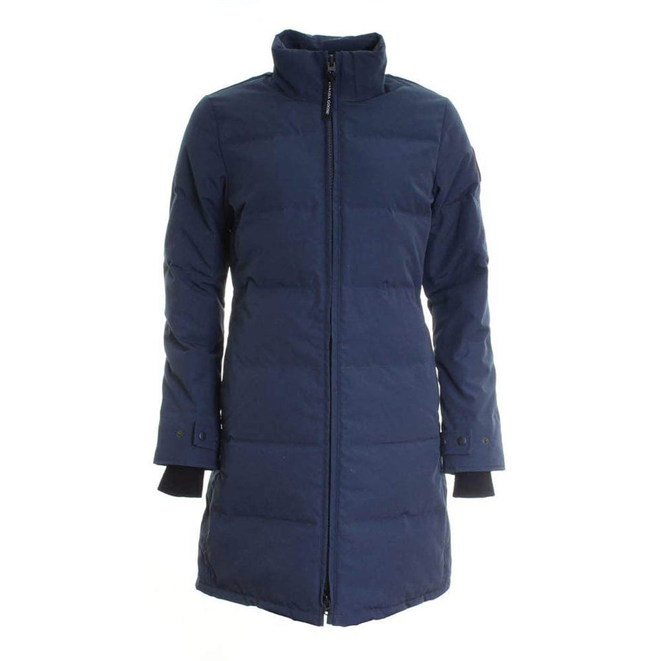 Canada Goose Heatherton Ladies Parka Cozy Around Neck Ink Blue Small Size 3805L