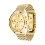 Movado Bold Yellow-Gold Plated Gold-Toned Sunray Chronograph Men's Watch 3600372