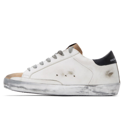 Golden Goose Deluxe Brand Superstar White/Brown Leather Mens Sneaker G36MS590.T78