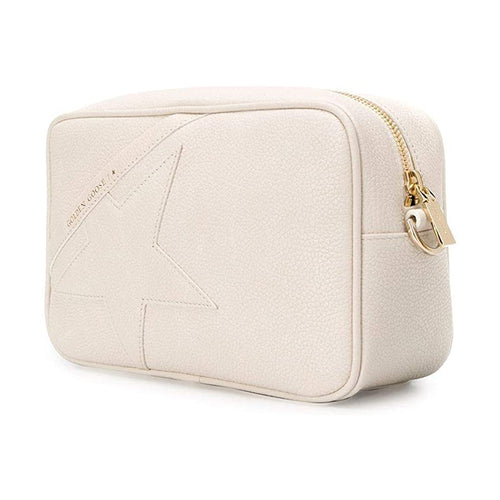 Golden Goose Womens Shoulder Star Bag In Grained Leather - White/Cream  G36WA881.A3