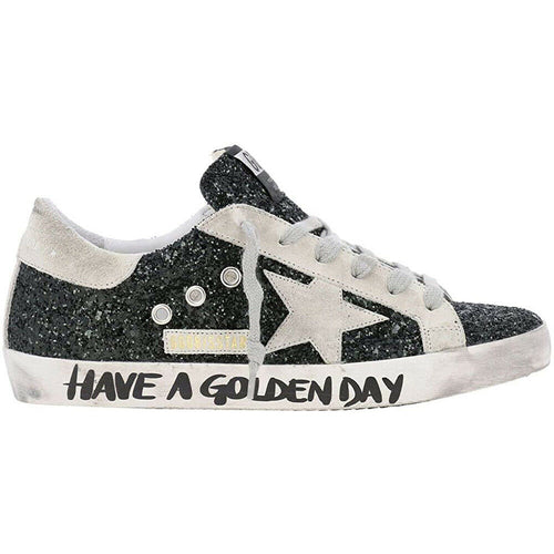 Golden Goose Deluxe Brand Superstar Glitter Women's Sneakers Leather Rubber Sole G36WS590.S47