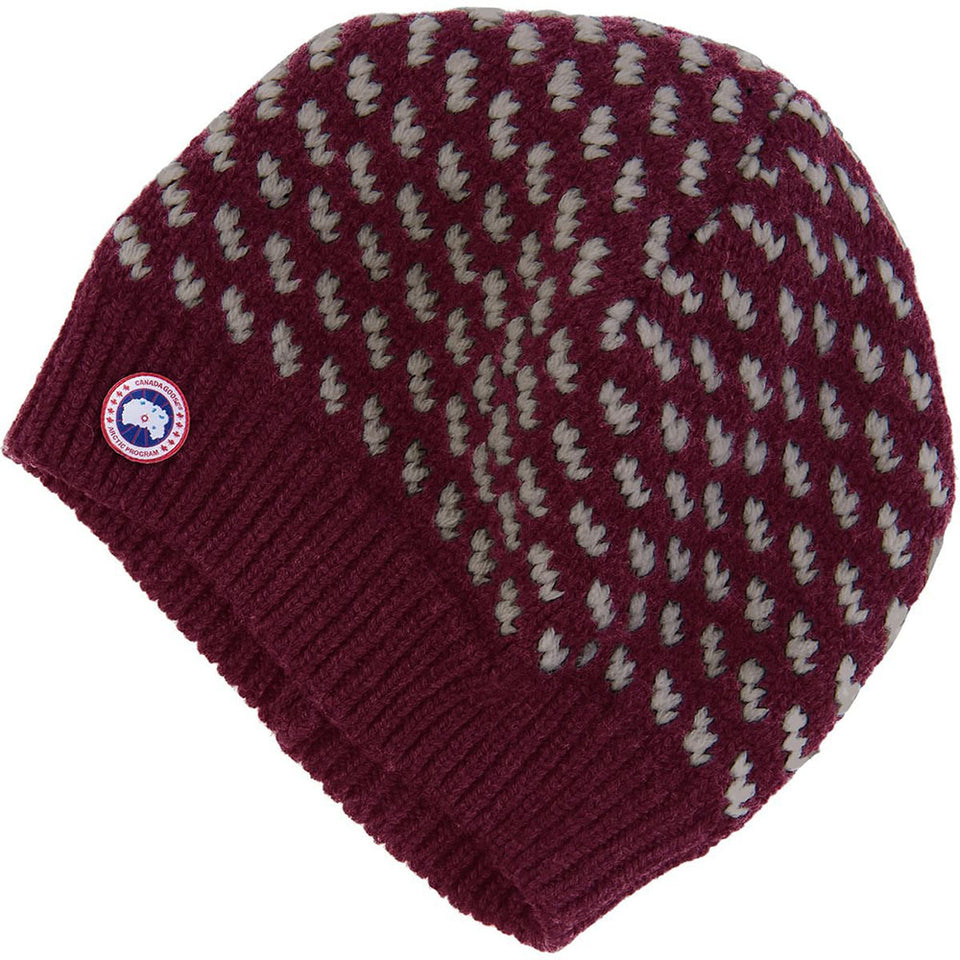 Canada Goose Women's Birdseye Beanie Niagara Grape One Size 100% Merino Wool 5270L