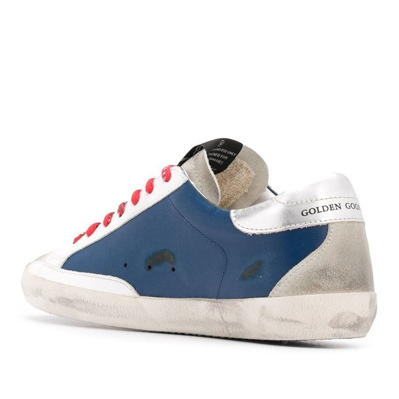 Golden Goose Deluxe Brand Superstar Blue Leather Mens Sneaker G36MS590.U59