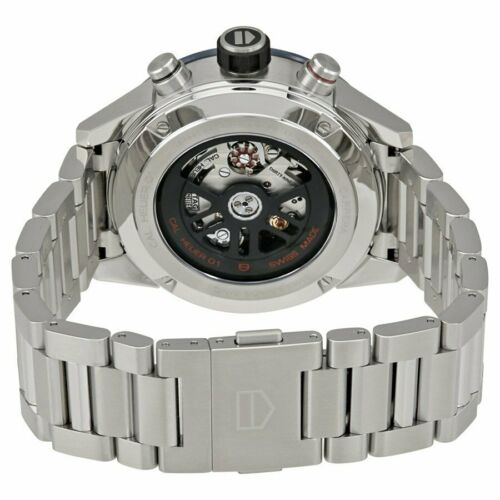 TAG Heuer Carrera 43 mm Brown Dial Silver-tone Men's Chronograph Watch CAR201U.BA0766