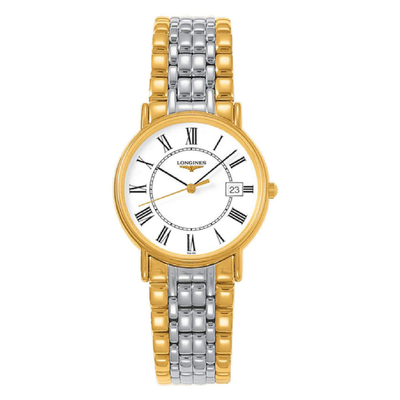 Longines La Grande Classique Presence Ladies Watch 33 mm White dial Two-tone strap L48192117