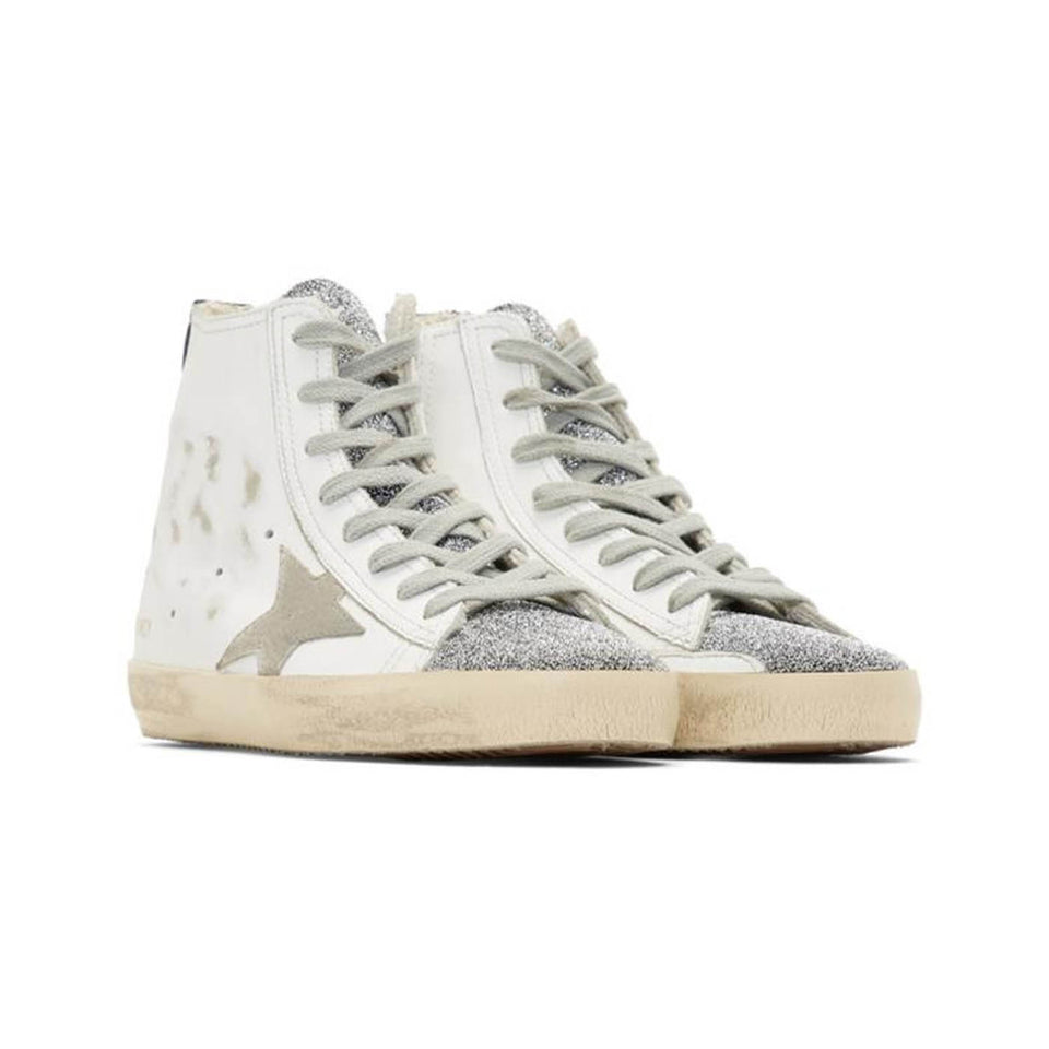 Golden Goose Francy Leather Women's Sneaker with Crystals - White G33WS591B.B56-35
