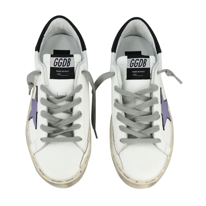 Golden Goose Deluxe Brand Hi star White with Laminated Star Women's Sneakers G36WS945.M2-40