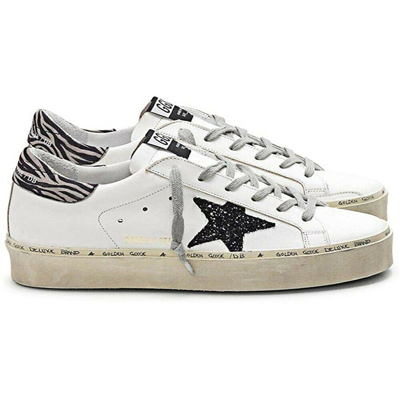 Golden Goose Women's Hi-Star Leather  Lace-up Platform Sneakers White G34WS945.E7