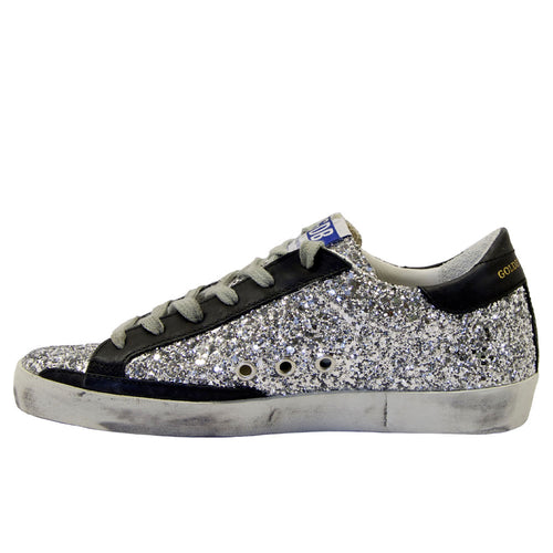 Golden Goose Deluxe Brand Superstar Glitter Upper Horsy Star Womens Sneaker