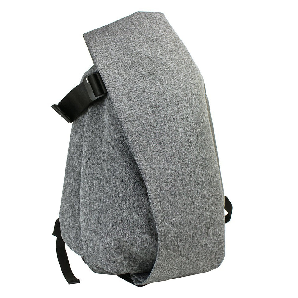 Cote & Ciel Isar Medium Eco Yarn Backpack Adjustable Shoulder Straps Grey Melange 27712