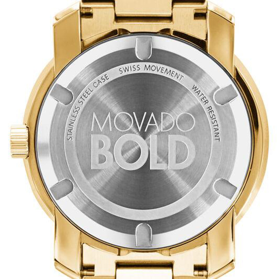 Movado Year-round 42 mm Champagne dial Yellow Gold Stainless Steel Men's Watch 3600258