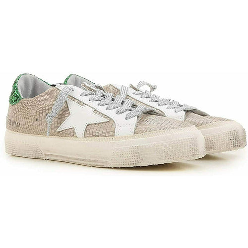 Golden Goose Deluxe Brand May Sand Lizard Emerald Women's Sneakers Brown G32WS127H.H5