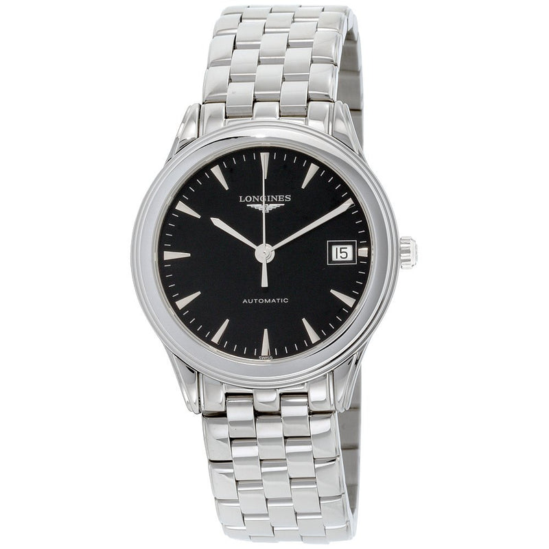 Longines Flagship Automatic Men's Watch 35.4 mm Black dial Silver strap L47744526