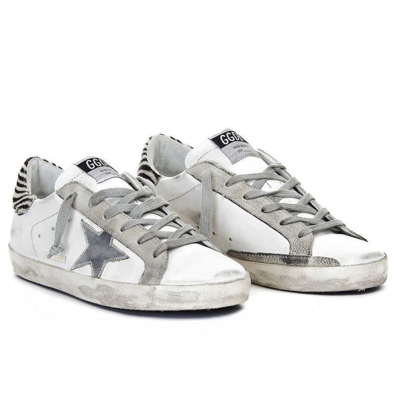 Golden Goose Deluxe Brand Superstar White Leather/Silver Star Women Sneakers G36WS590.V29