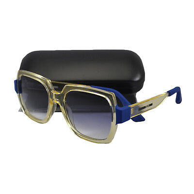 Alexander McQueen Sunglasses in Transparent No Polarized Yellow Blue Gradient MQ0013S oo4