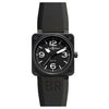 Bell and Ross Aviation Stainless Steel Men's Rubber Band Black 46mm Watch BR0192-BL-CA