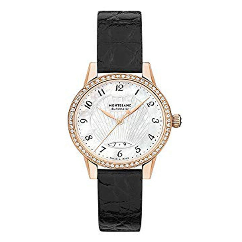 Montblanc Bohème Stainless Steel Leather Strap Automatic Movement Ladies Watch 116501