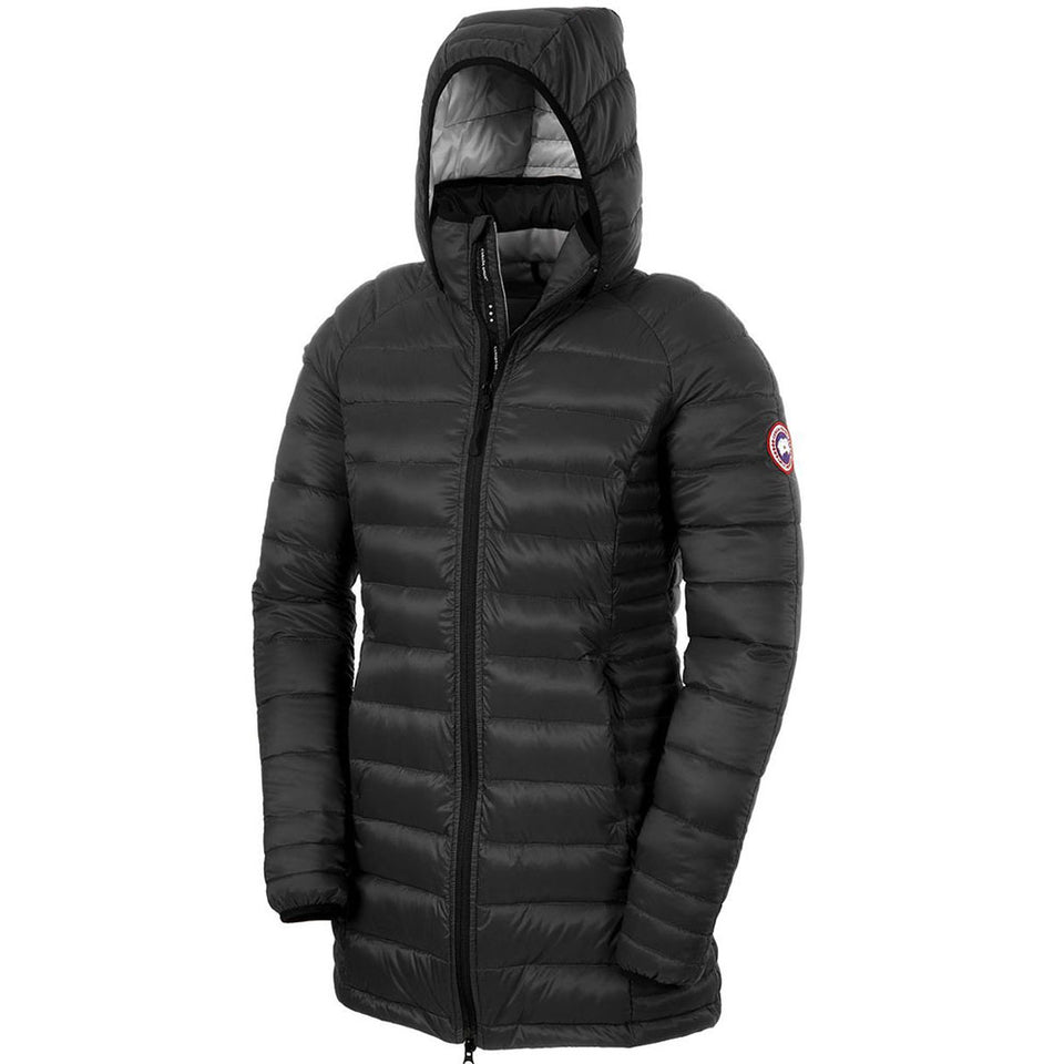 Canada Goose Ladies Lightweight Brookvale Hooded Coat Black/Graphite Small Size 5502L
