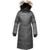 Nobis Ladies Extreme Parka Two-way Zipper Removable Rabbit Fur Collar Steel Grey SHE-RA