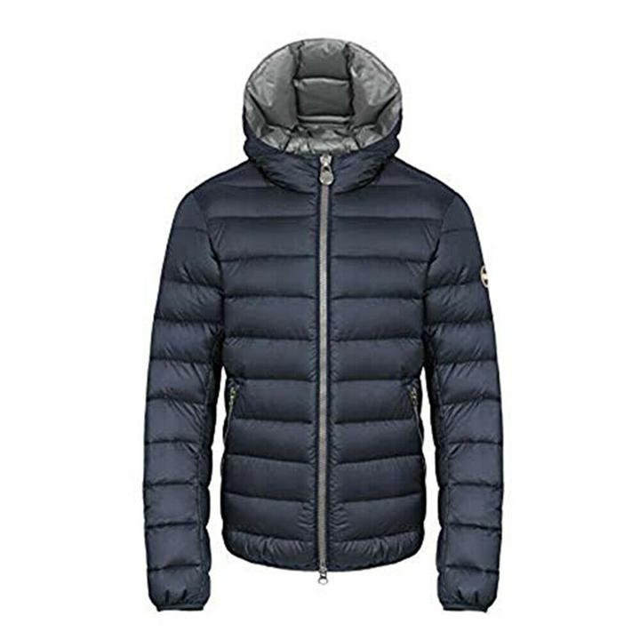 Colmar Men's Down Jacket With Non Detachable Hood Wraparound Collar Water Repellent 12498QL