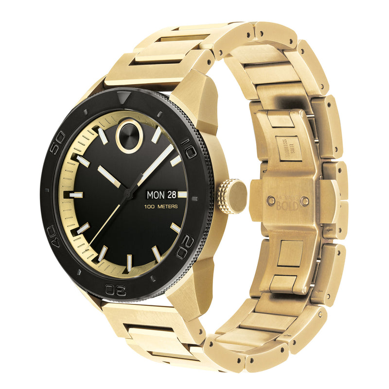Movado BOLD Sport  43.5 mm Pale Wellow Gold ion-Plated Stainless Steel Case Mens Watch 3600605