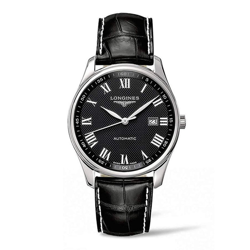 Longines Master Collection Men's Watch 42 mm Black dial and Leather strap L28934517