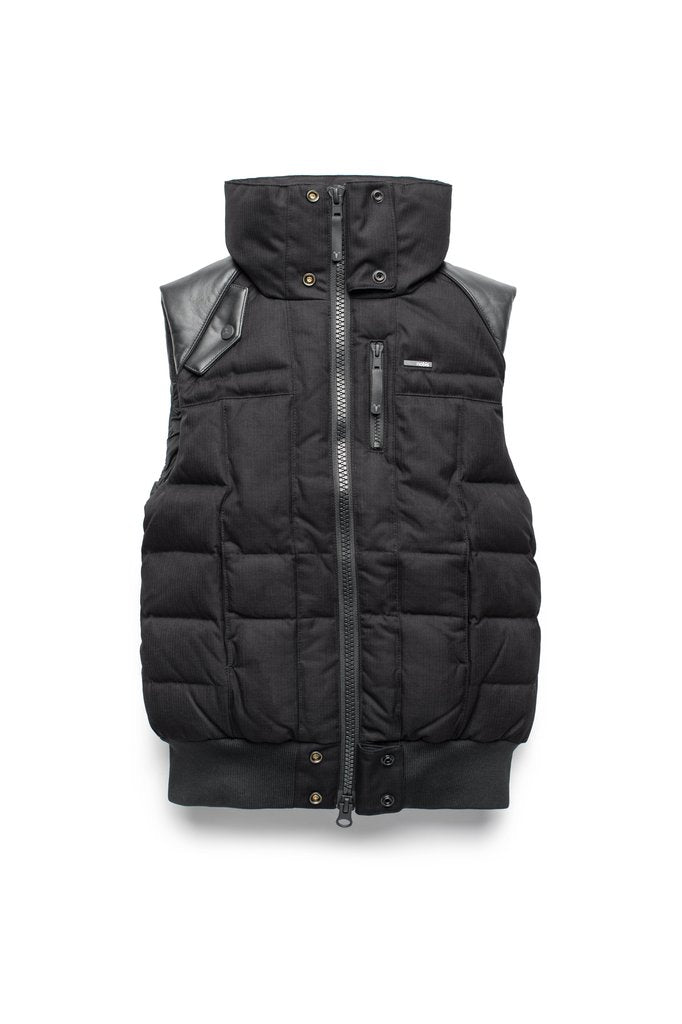 Nobis Meego Polyester Crosshatch Fabrication Ladies Vest Two-way Zipper Meego-Black