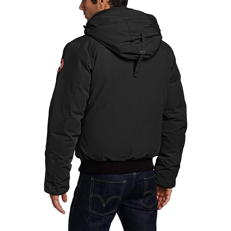 Canada Goose Men's Borden Bomber Jacket Removable Hood Black Medium Size 7968M