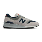New Balance Pig Suede Rubber Sole Fabric and Synthetic Men's Sneakers Made In USA M997WEB
