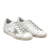 Golden Goose Superstar Men's Leather Sneakers -White/Silver  GCOMS590.W77