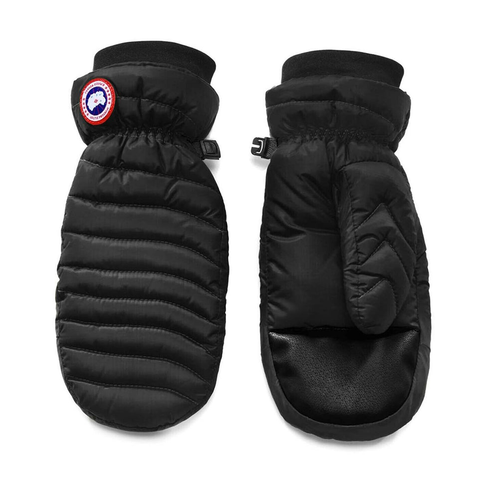Canada Goose Women's Lightweight Mitts Black Elastic Drawcord at the Cuffs Medium Size 5171L