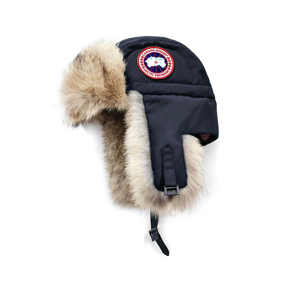 Canada Goose Ladies Aviator Hat Navy Adjustable Chin Buckle Size Small/Medium 5187L
