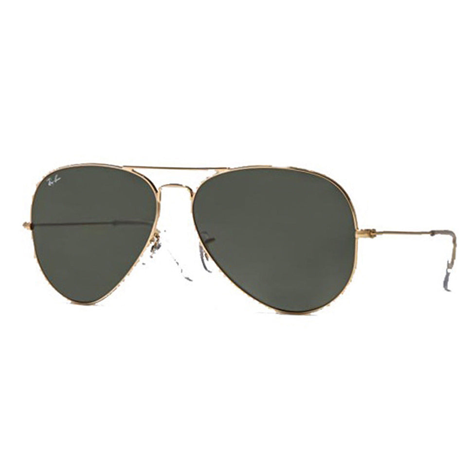 Ray Ban Aviator Classic Unisex Green Lens Gold Frame Sunglasses 62 mm RB302500162
