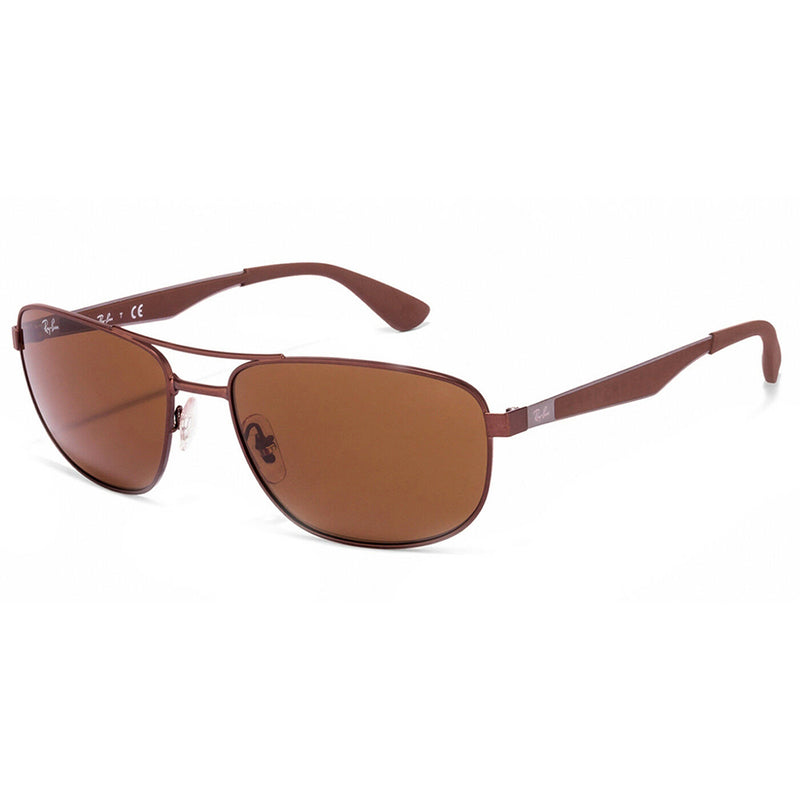 Ray Ban Active Metal Frame Gunmetal and Brown Sunglasses 58 mm Unisex RB35281273
