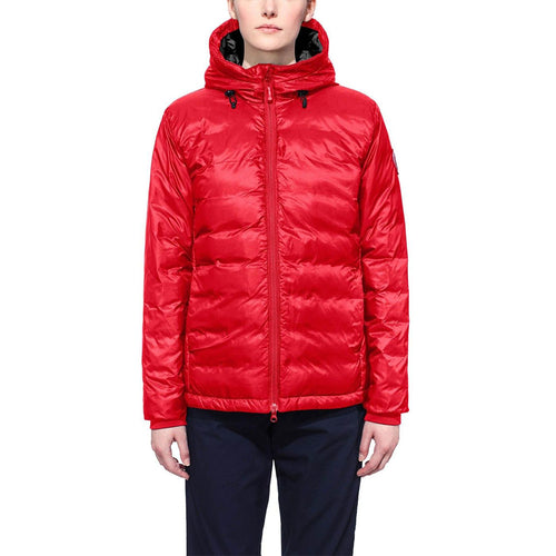 Canada Goose Ladies Camp Hoody Jacket Drop Tail Red Small Size Heavy duty 2-way 5055L