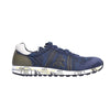 Premiata Lucy 2460 Leather Fabric Rubber Sole Italian Sneakers for Men Blue Camo VAR2460