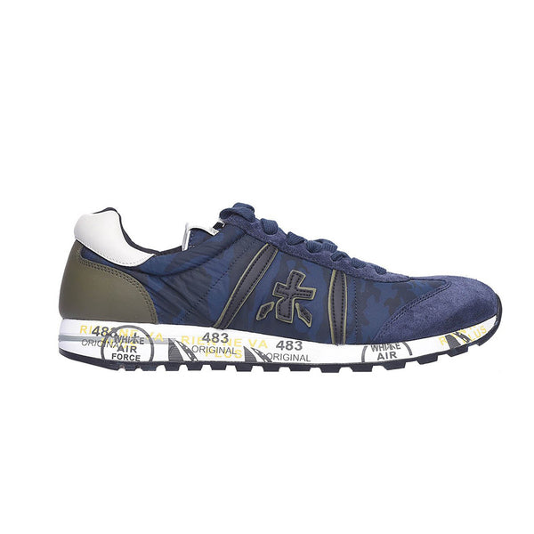 Details about  /PREMIATA women shoes Platinum leather and lasered tech fabric Lucy 3426 sneaker