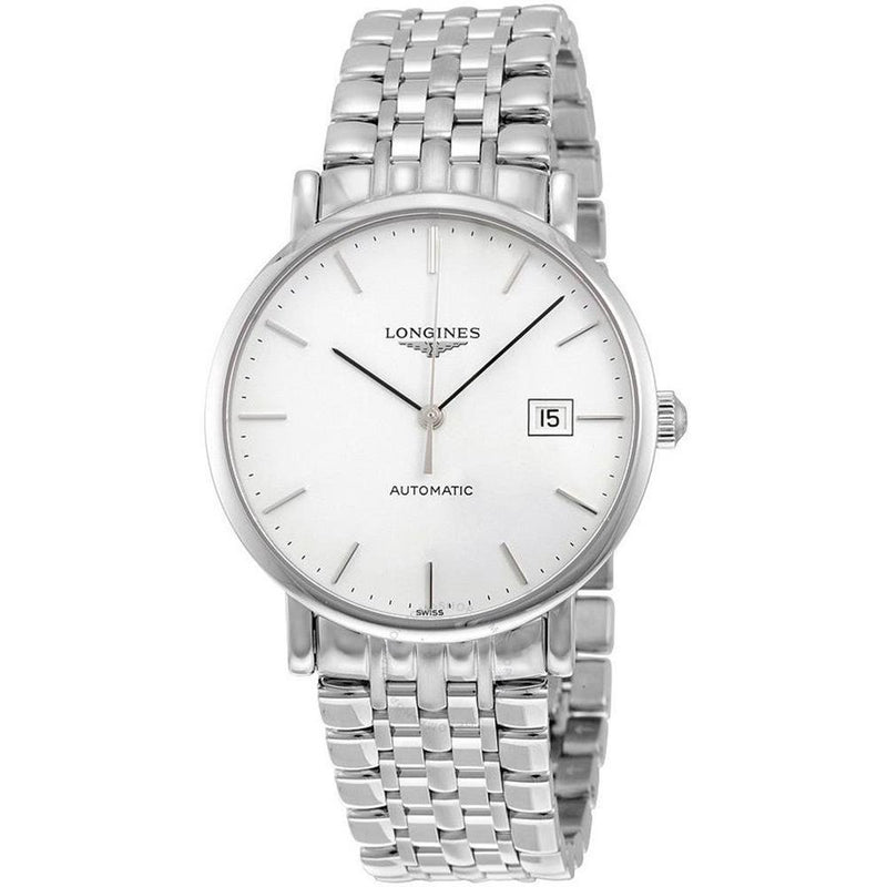 Longines Elegant Automatic 39 mm Men's Watch Date Display Silver Water Resistant L49104126