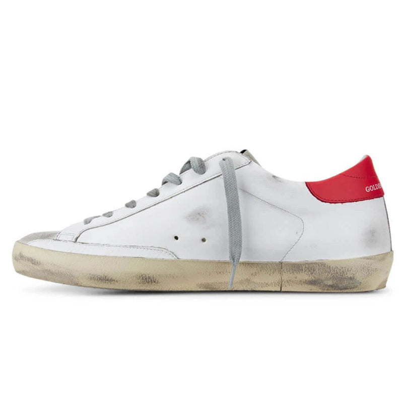 Golden Goose Deluxe Brand Superstar White/Blue Star Leather Mens Sneaker G36MS590.T77 - 10
